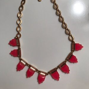Stella and Dot pink and gold necklace